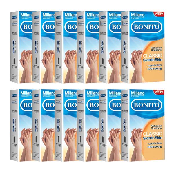 کاندوم بونیتو مدل skin to skin مجموعه 12 عددی