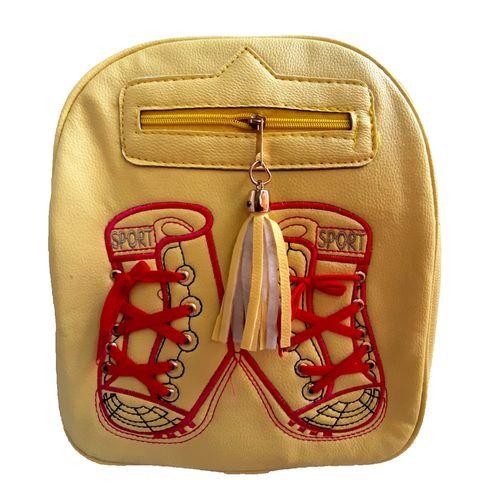 کوله پشتی دخترانه طرح کفش مدل lux-2020  رنگ زرد