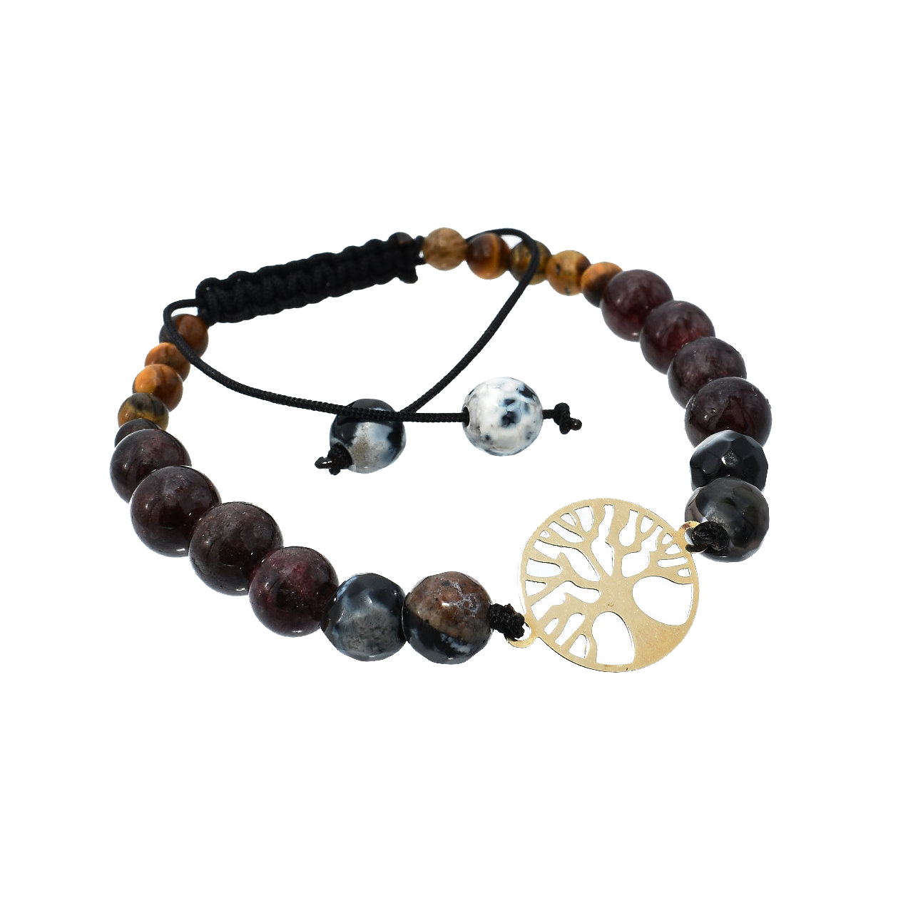 دستبند طلا 18 عیار زنانه آرشا گالری طرح درخت زندگی کد A2385