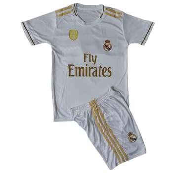 ست پیراهن و شورت ورزشی پسرانه طرح رئال مادرید کد 2019