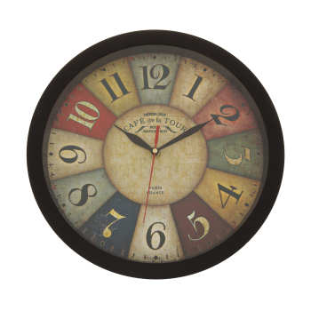 ساعت دیواری طرح رنگارنگ کد 206