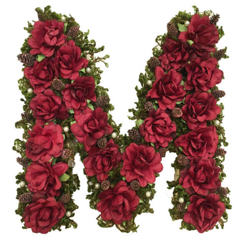 استند گل مصنوعی طرح حرف M کد 55