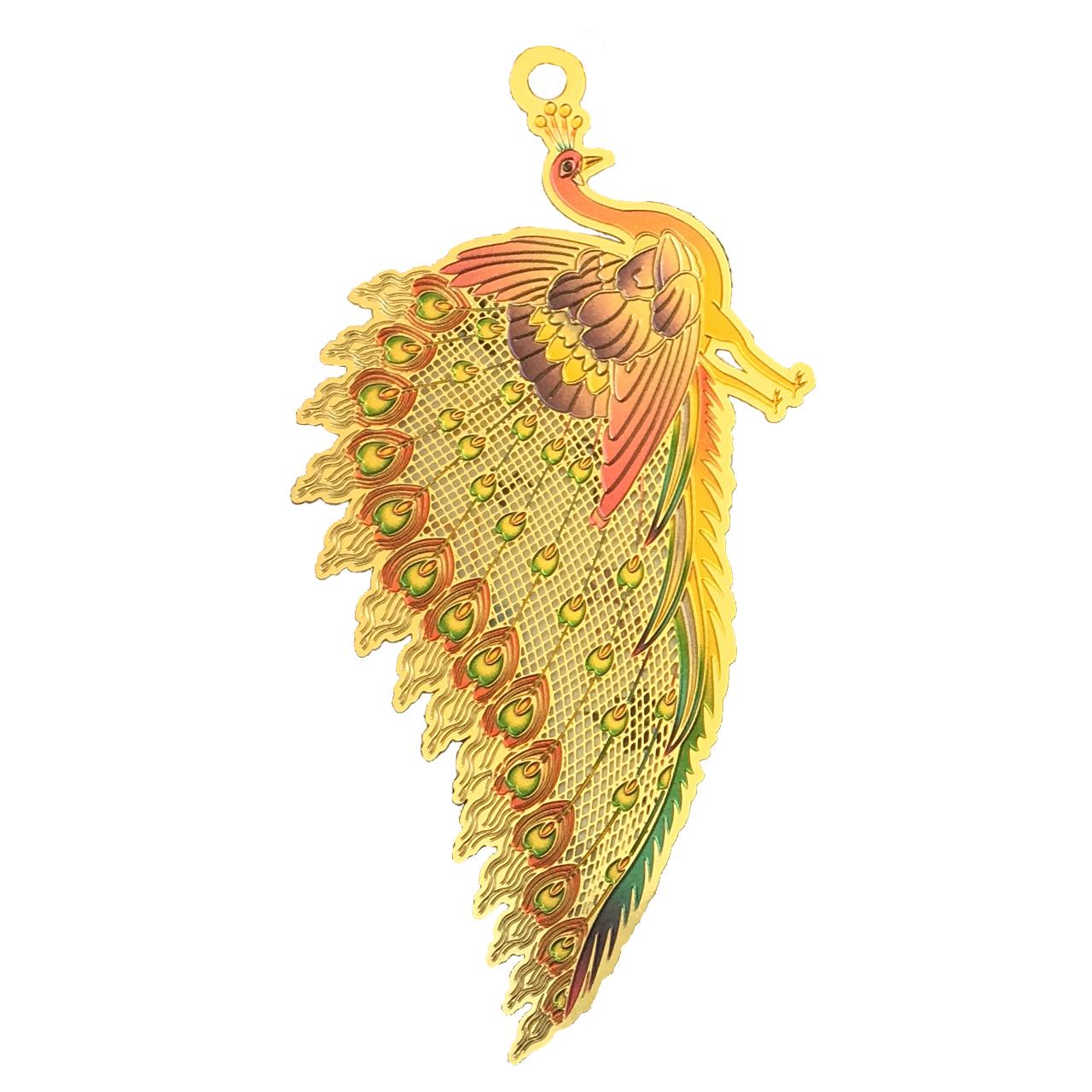 آویز زنانه طرح طاووس مدل KR4