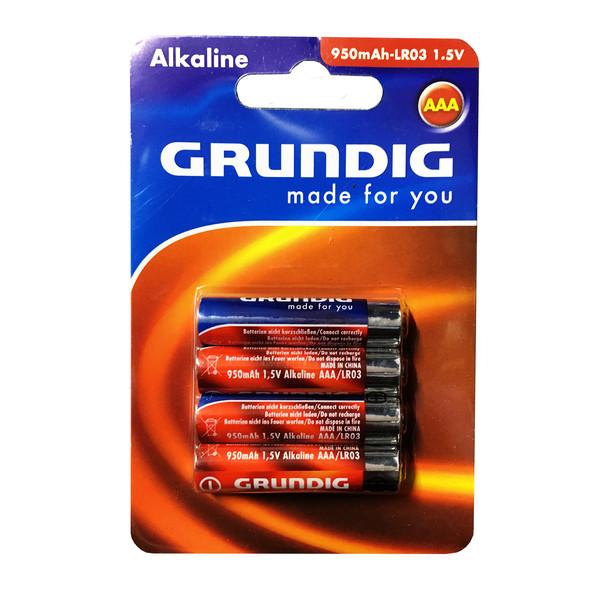 باتری نیم قلمی گروندیگ مدل Alkaline بسته 4 عددی