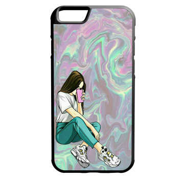 کاور طرح دختر کد 1105409038 مناسب برای گوشی موبایل اپل iphone 6/6s