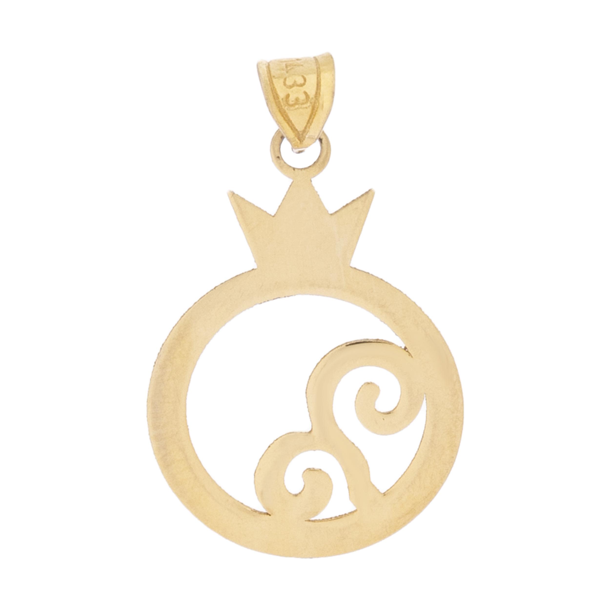 آویز گردنبند طلا 18 عیار زنانه میو گلد مدل N013