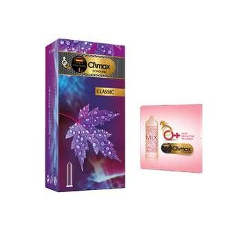 کاندوم کلایمکس مدل CLASSIC بسته 12 عددی به همراه کاندوم مدل بلیسر کد 01