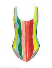 مایو یک تکه طرح دار زنانه - مانگو - چند رنگ - 1