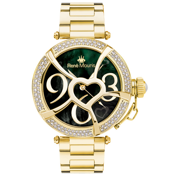 ساعت مچی عقربه ای زنانه رنه موریس مدل Coeur d Amour 50103rm5