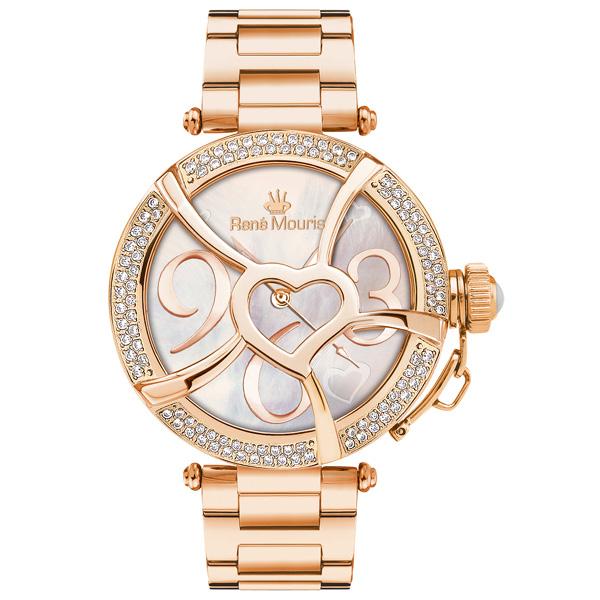 ساعت مچی عقربه ای زنانه رنه موریس مدل Coeur d Amour 50103rm7