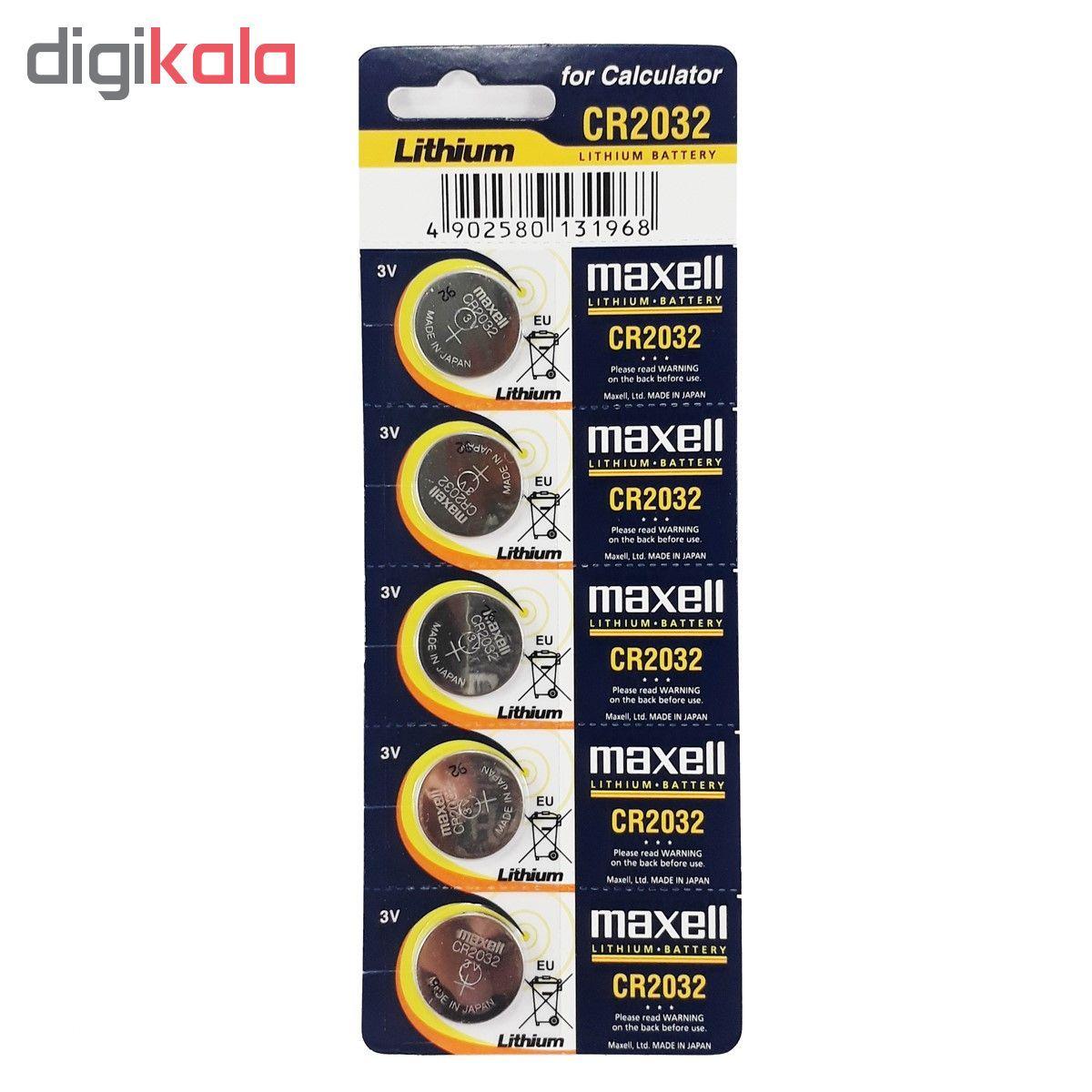 باتری سکه ای مکسل مدل CR2032 بسته 5 عددی main 1 1