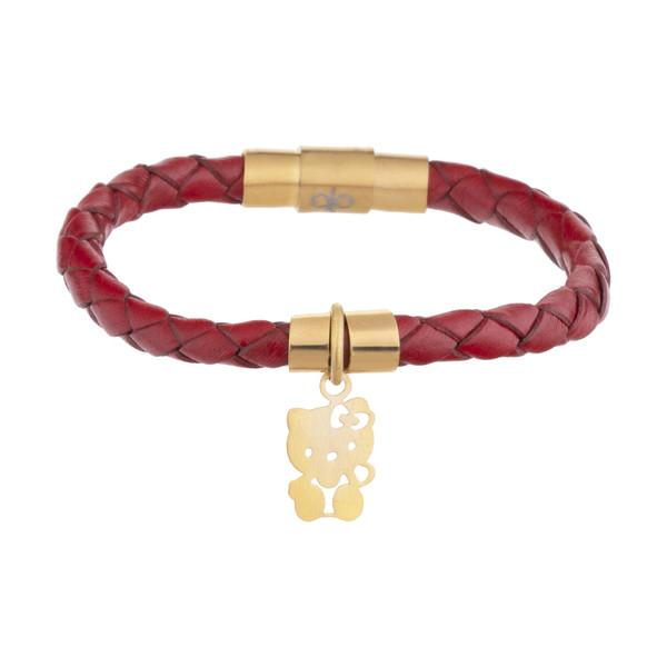 دستبند طلا 18 عیار دخترانه میو گلد مدل BW107