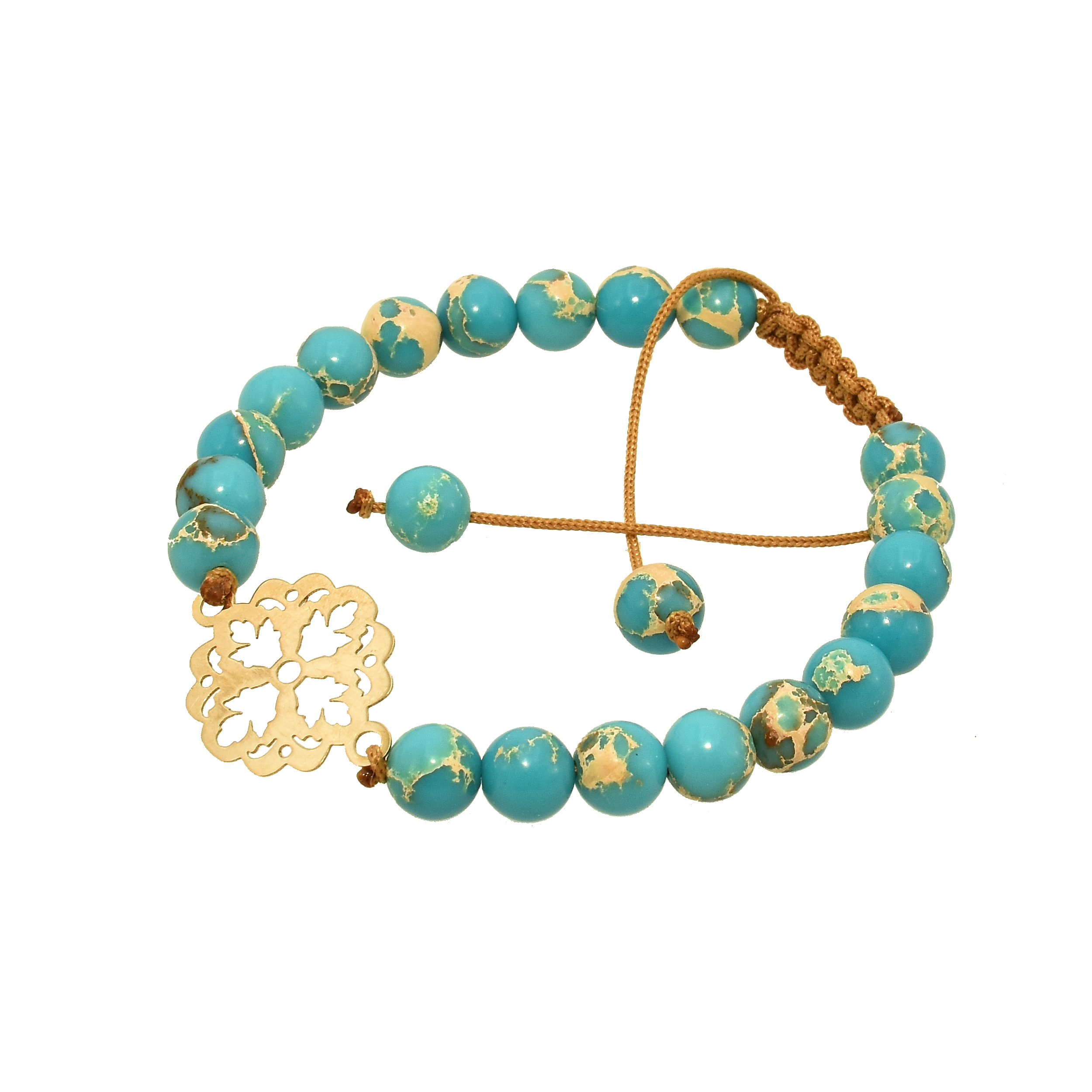دستبند طلا 18 عیار زنانه گالری آمانژ مدل اسلیمی کد D2553