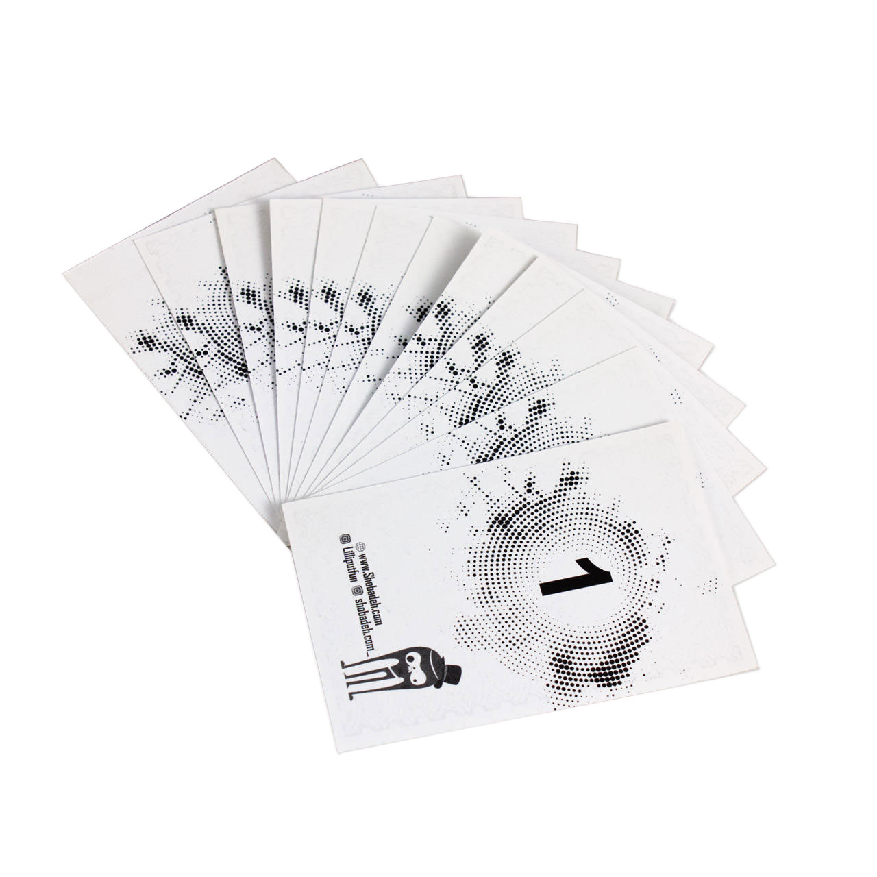 ابزار شعبده بازی طرح کارت خورشید کد 01 بسته 13 عددی