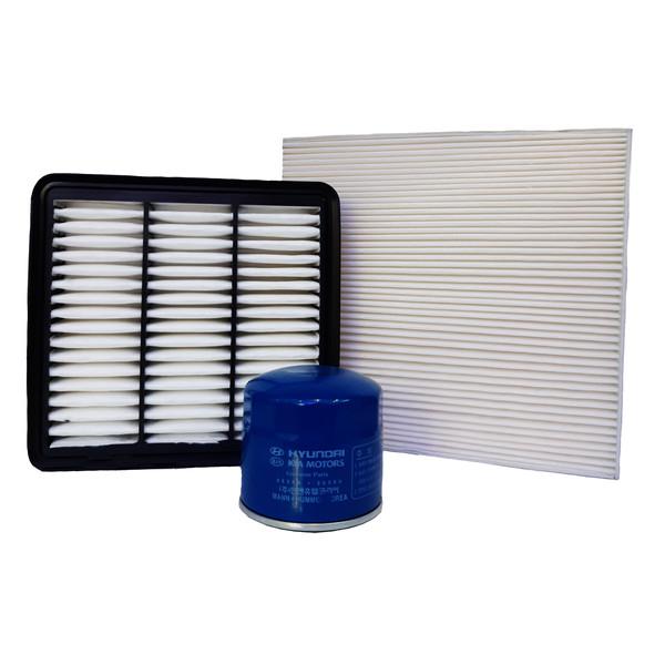 فیلتر هوا خودرو مدل 281132H000 مناسب برای سراتو به همراه فیلتر کابین و فیلتر روغن