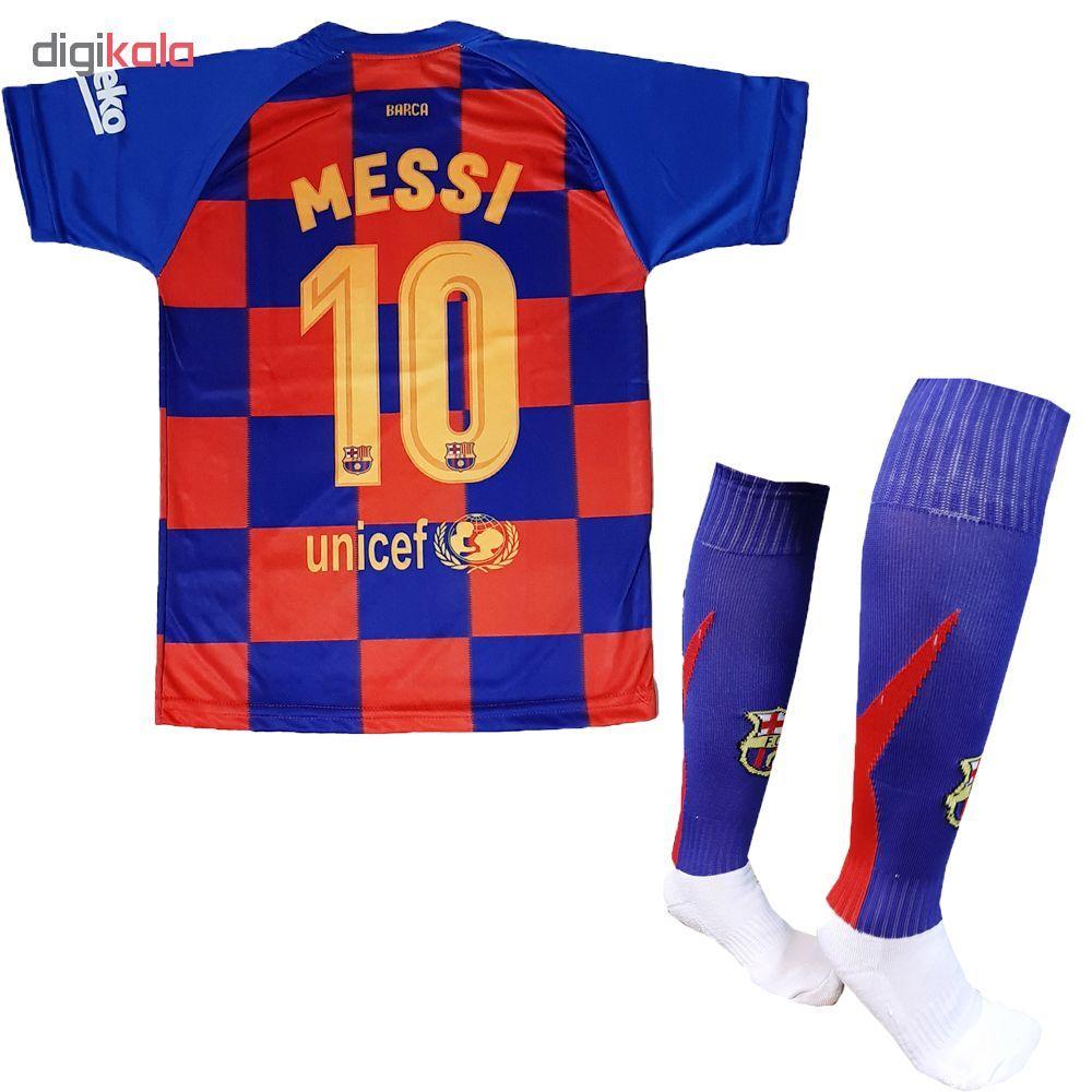 ست لباس ورزشی پسرانه طرح بارسلونا کد 2019 main 1 2