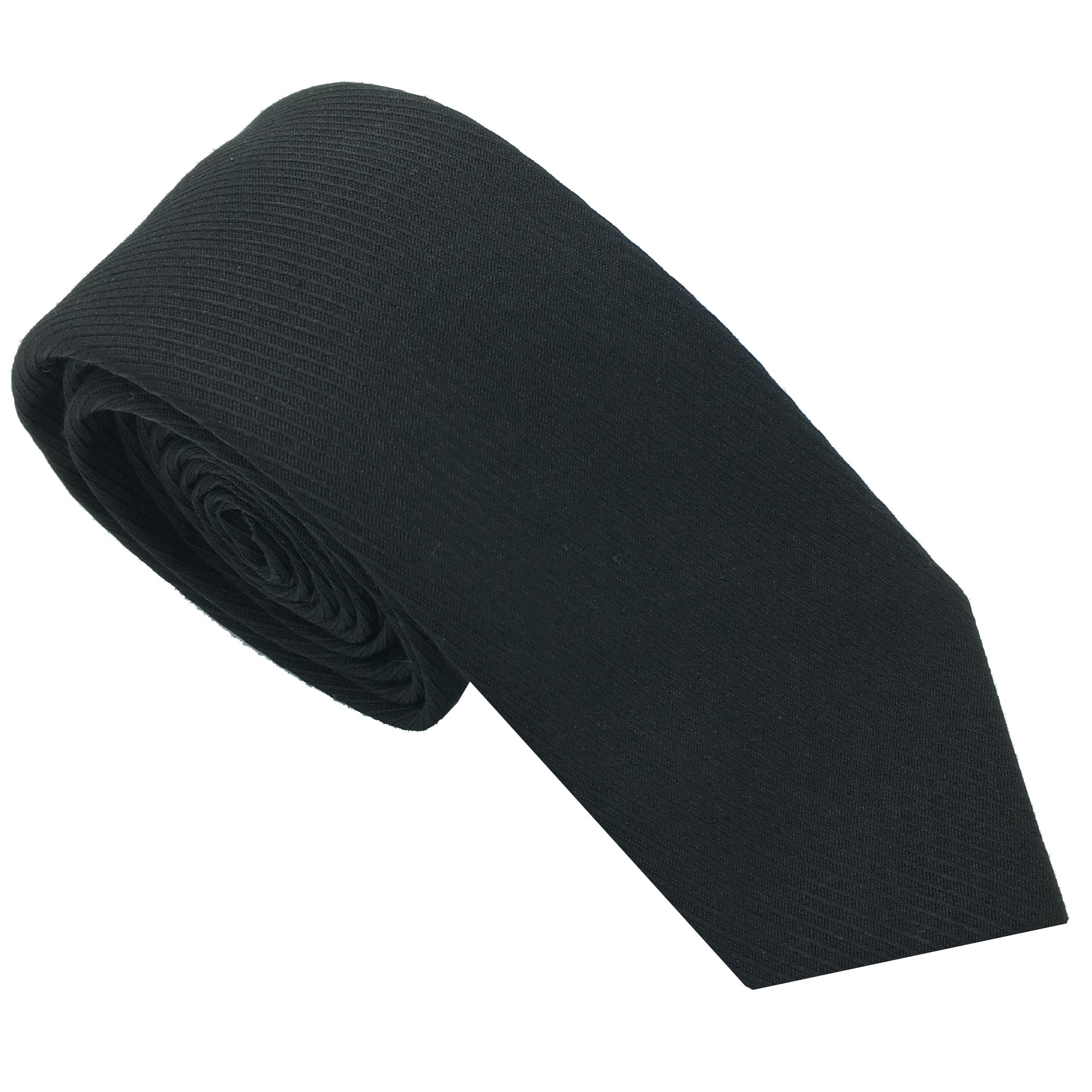 کراوات مردانه هکس ایران مدل KT-BLK KJR