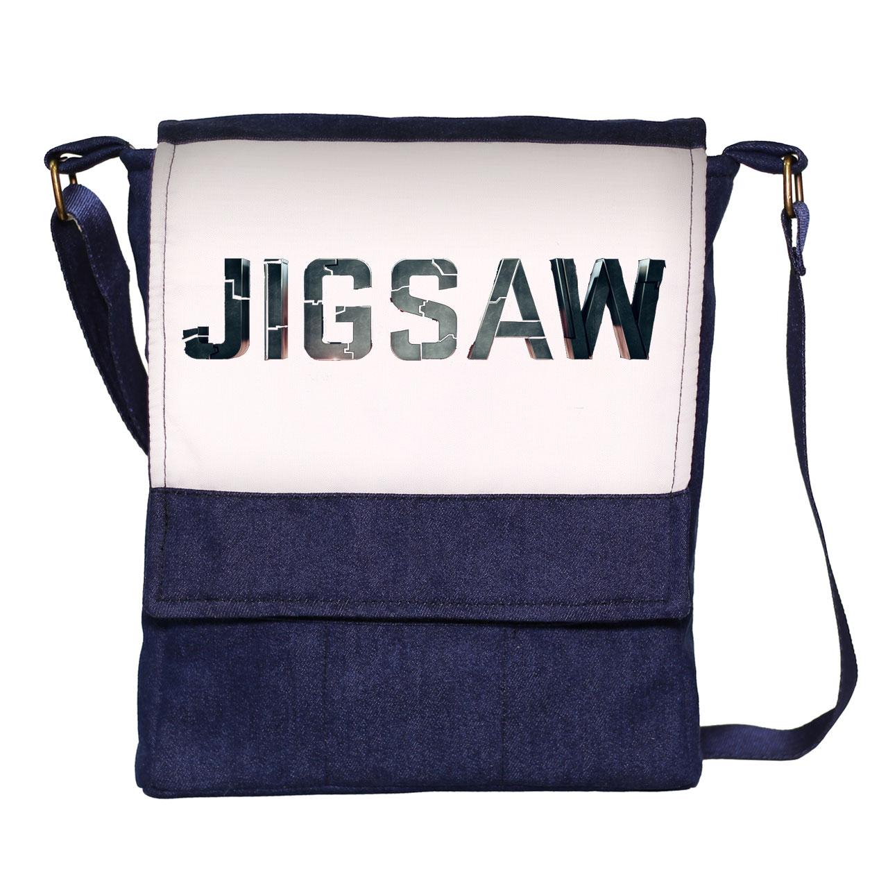 کیف دوشی مردانه گالری چی چاپ طرح jigsaw کد 1042