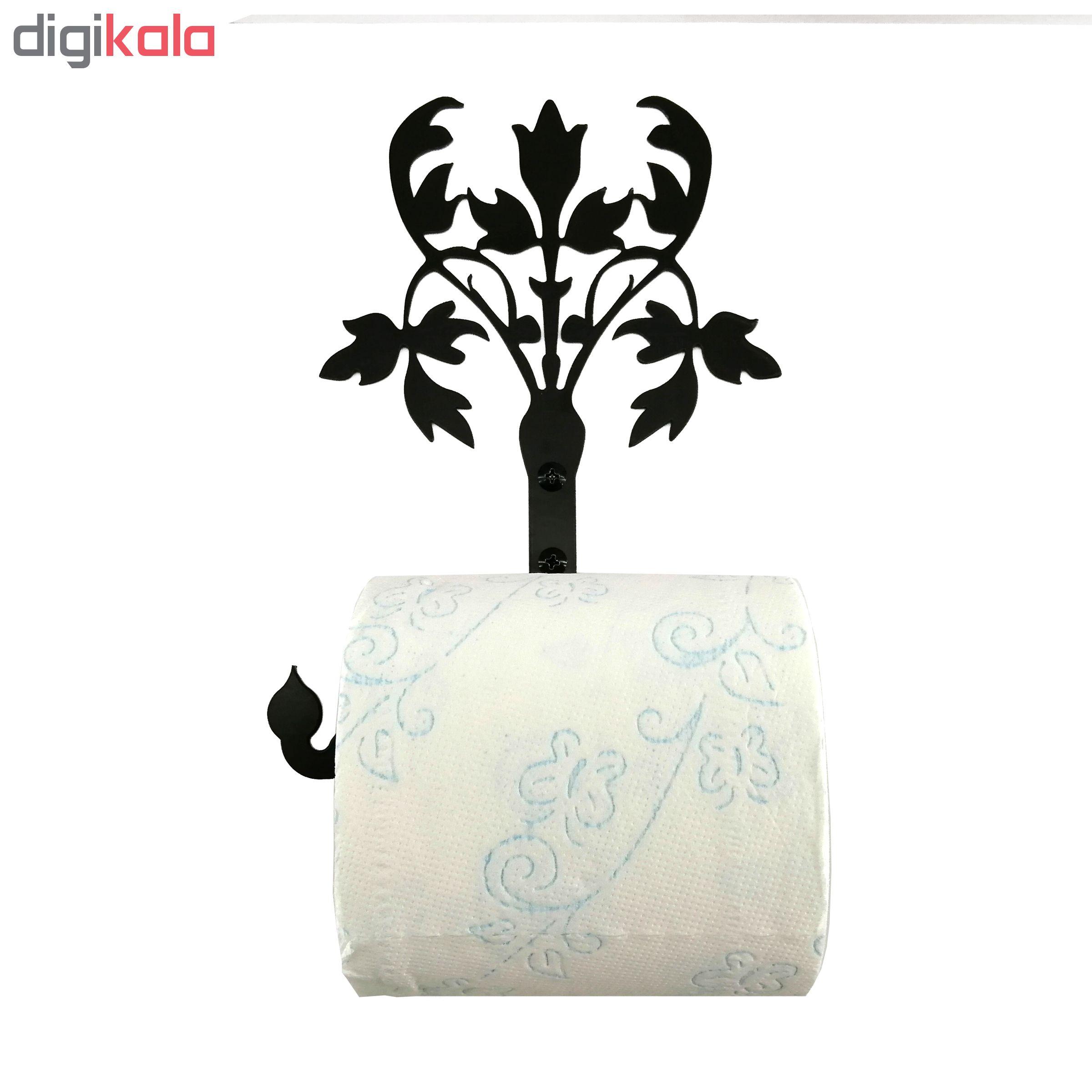 پایه رول دستمال کاغذی طرح فلور کد KMJ23