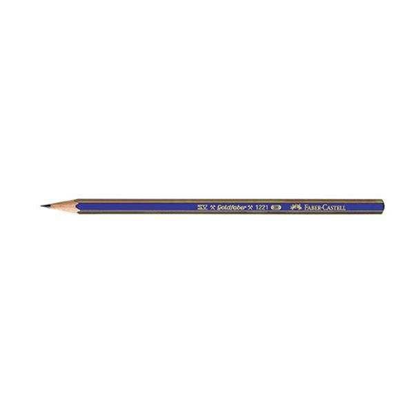 مداد طراحی فابر کاستل مدل گلد فابر B بسته 12 عددی
