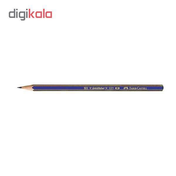 مداد طراحی فابر کاستل مدل گلد فابر B بسته 12 عددی main 1 1