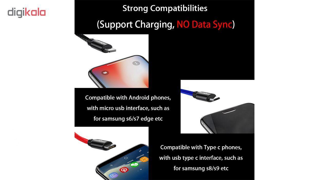 کابل تبدیل USB به لایتنینگ/USB-C/microUSB تاپیکس مدل TS-03 طول 1.2 متر main 1 5
