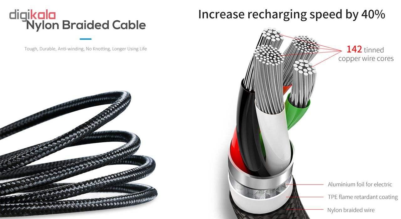 کابل تبدیل USB به لایتنینگ/USB-C/microUSB تاپیکس مدل TS-03 طول 1.2 متر main 1 6