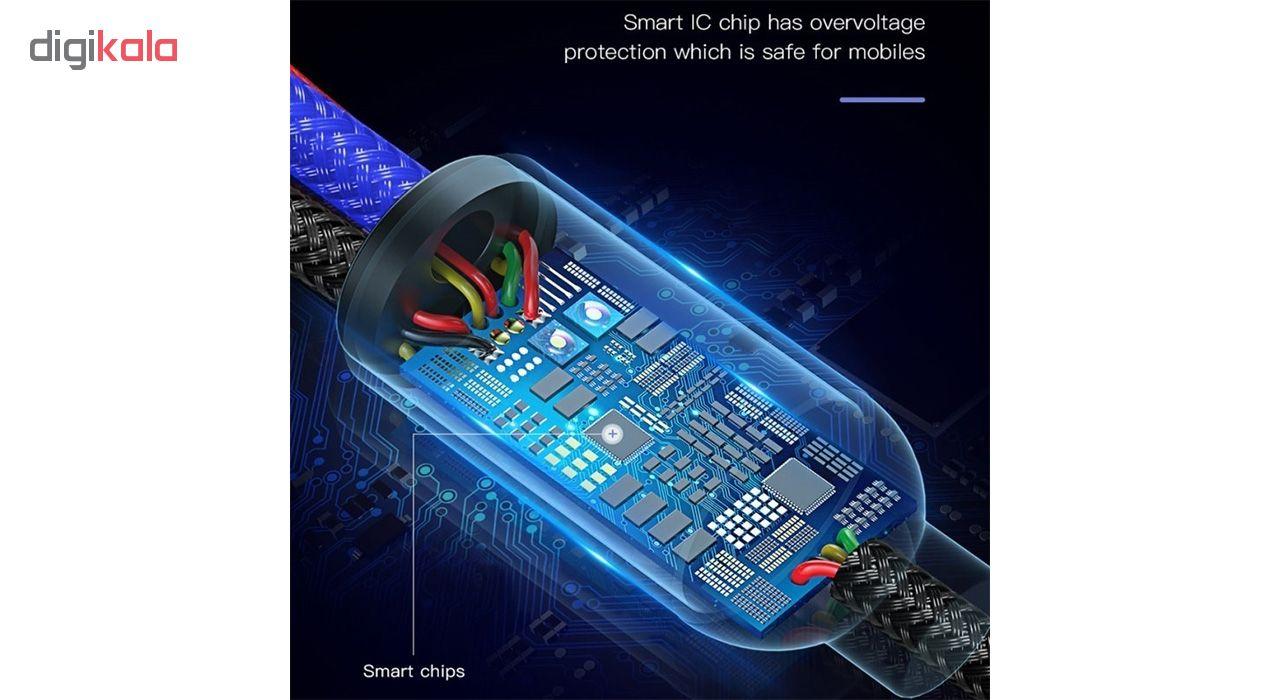 کابل تبدیل USB به لایتنینگ/USB-C/microUSB تاپیکس مدل TS-03 طول 1.2 متر main 1 7