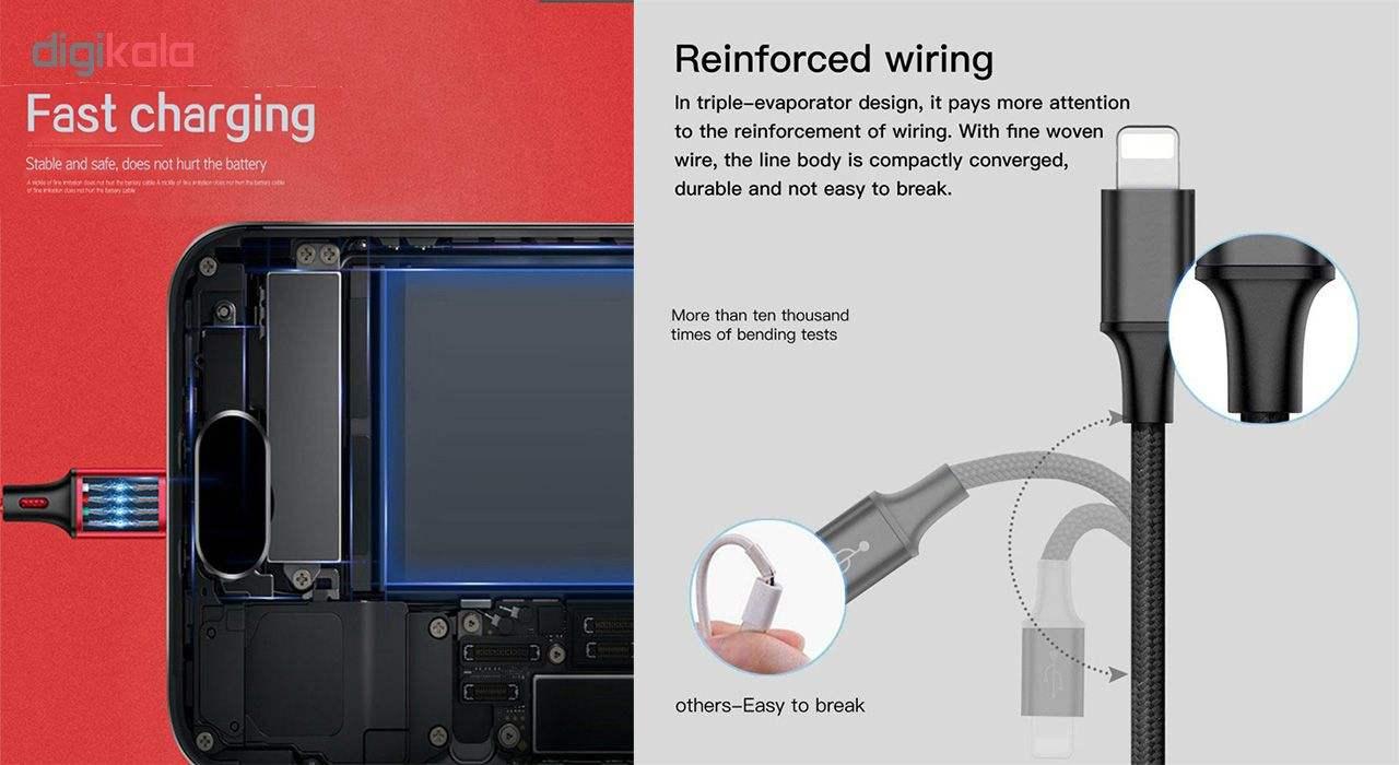 کابل تبدیل USB به لایتنینگ/USB-C/microUSB تاپیکس مدل TS-03 طول 1.2 متر main 1 8