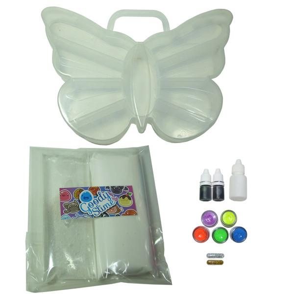 بسته رنگ آمیزی گودی اسلایم مدل پروانه اسلایم خامه ای