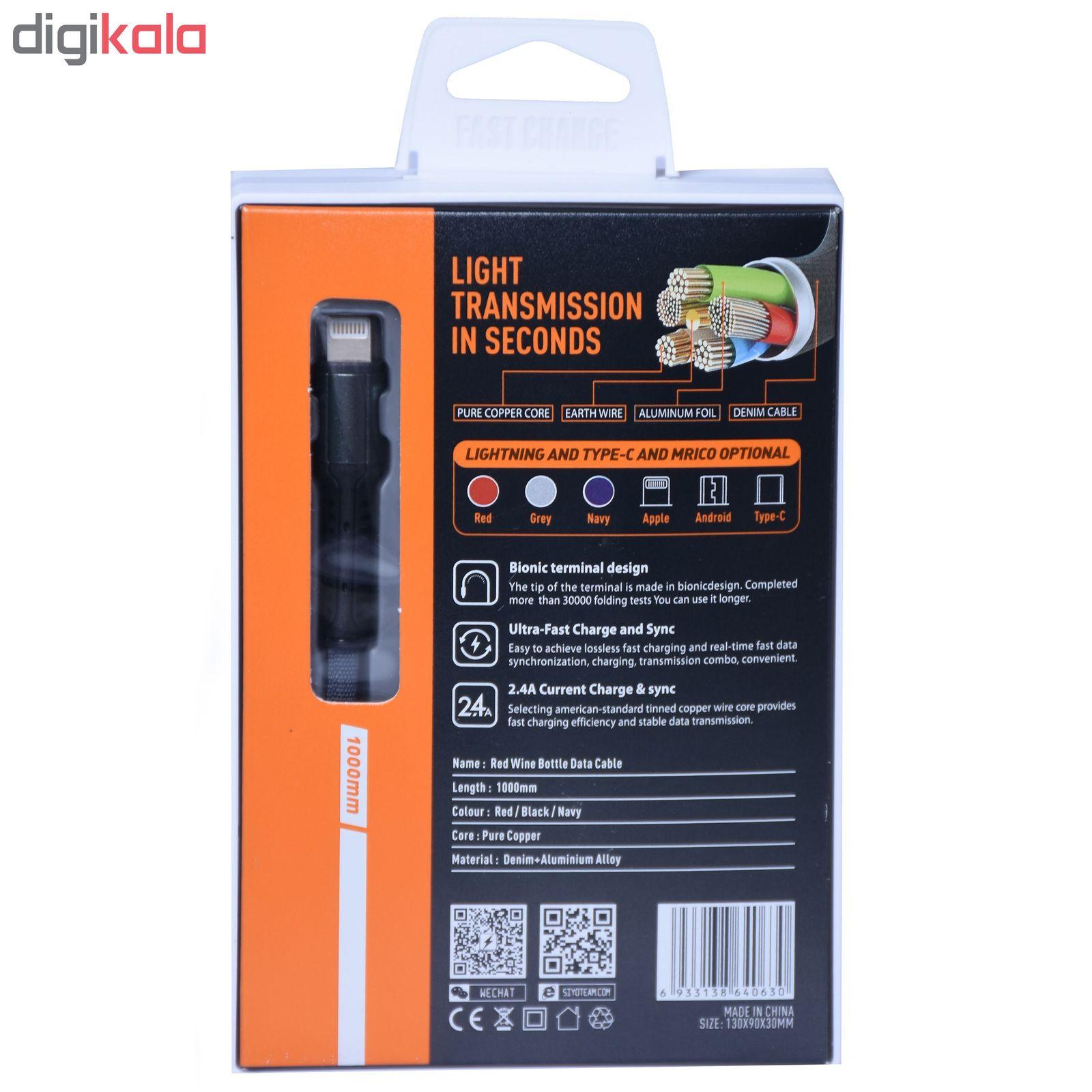 کابل تبدیل USB به لایتنینگ الدینیو مدل LS63 طول 1 متر main 1 4