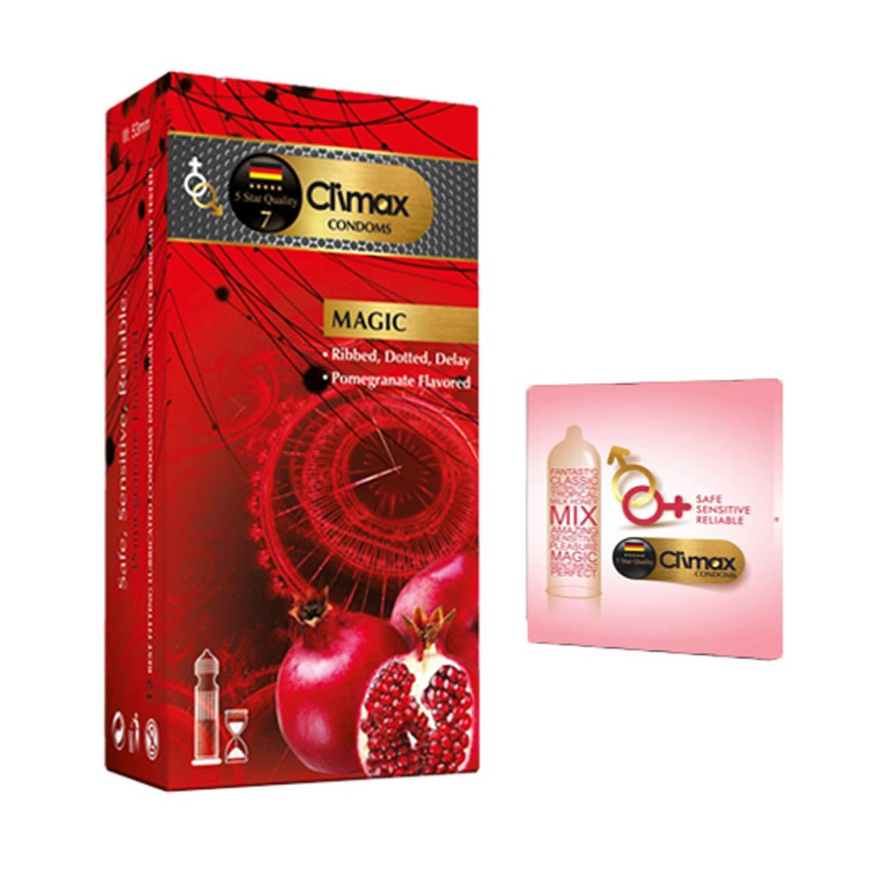 کاندوم کلایمکس مدل MAGIC بسته 12 عددی به همراه کاندوم مدل بلیسر کد 01
