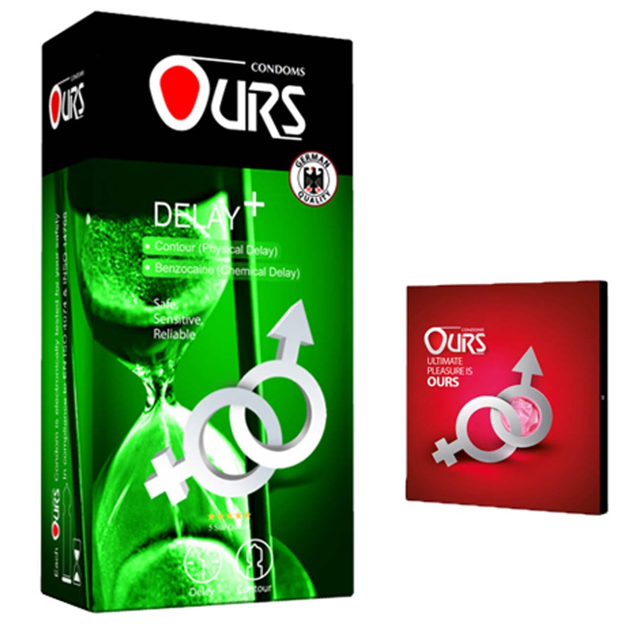 کاندوم اورز مدل DELAY PLUS بسته 12 عددی به همراه کاندوم مدل بلیسر
