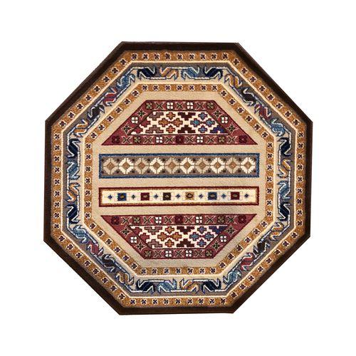 فرش ماشینی ستاره کویر یزد مدل شاهسون زمینه کرم