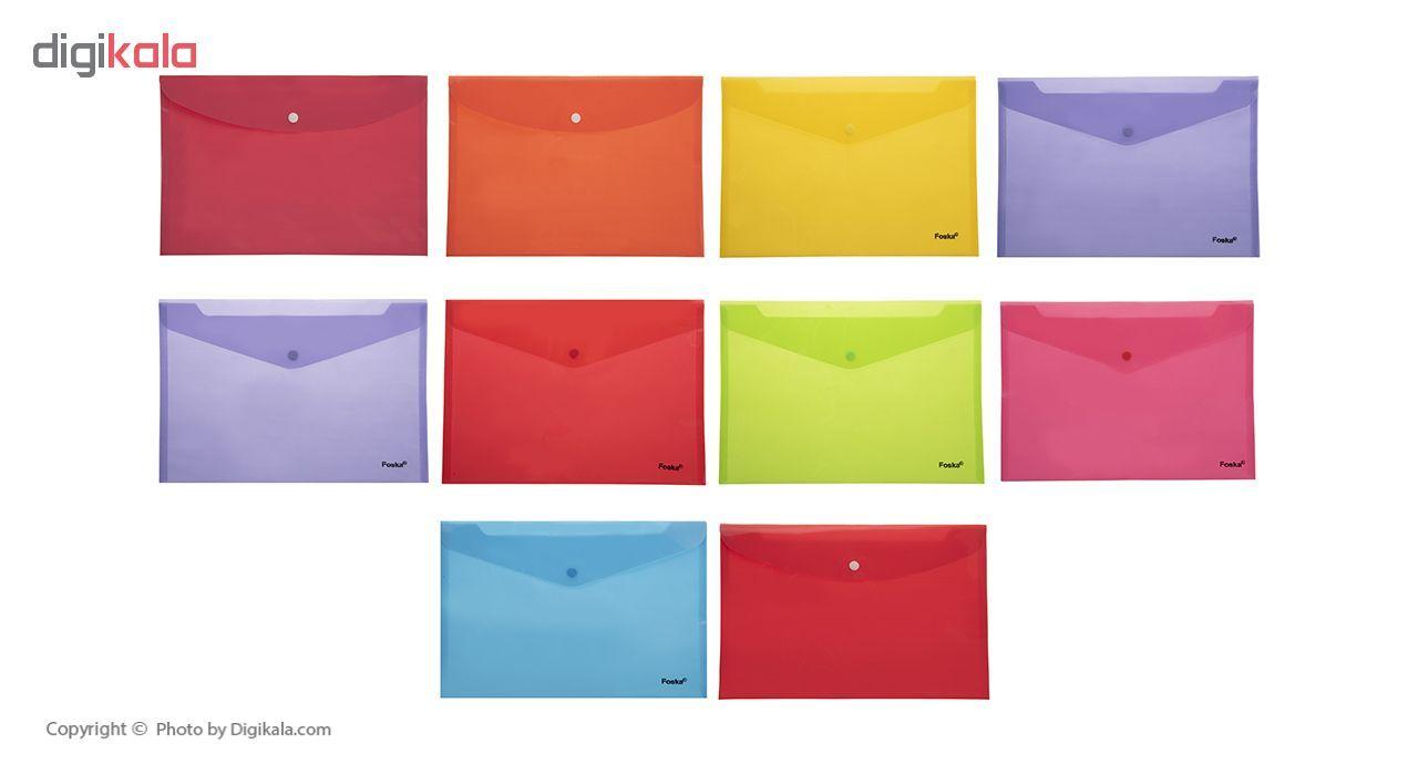 پوشه دکمه دار فوسکا سایز A4 بسته 10 عددی main 1 2