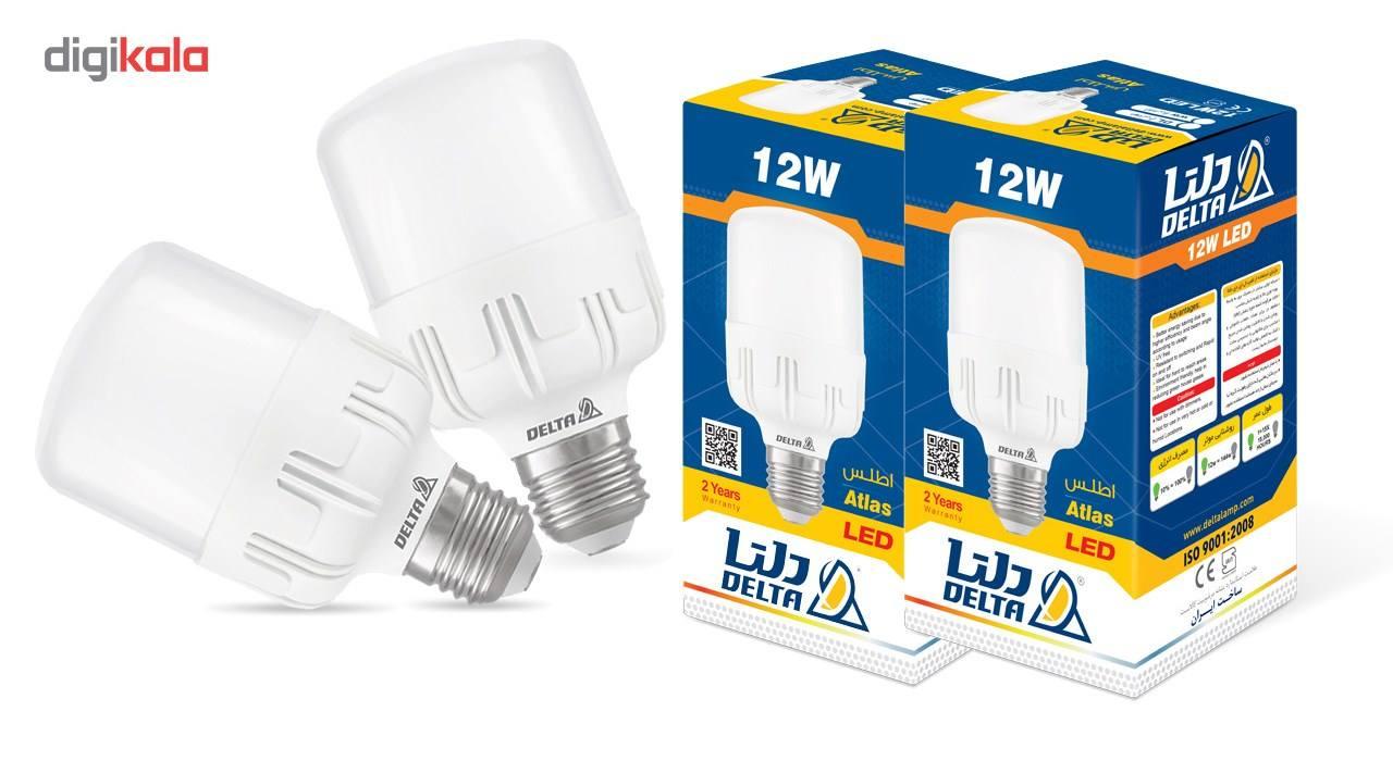 لامپ ال ای دی 12 وات دلتا مدل اطلس پایه E27 بسته 2 عددی main 1 1