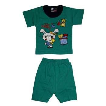ست تی شرت و شلوارک دخترانه کد 4444SAB