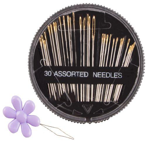 سوزن مدل mesh-30 مجموعه 30 عددی به همراه سوزن نخ کن