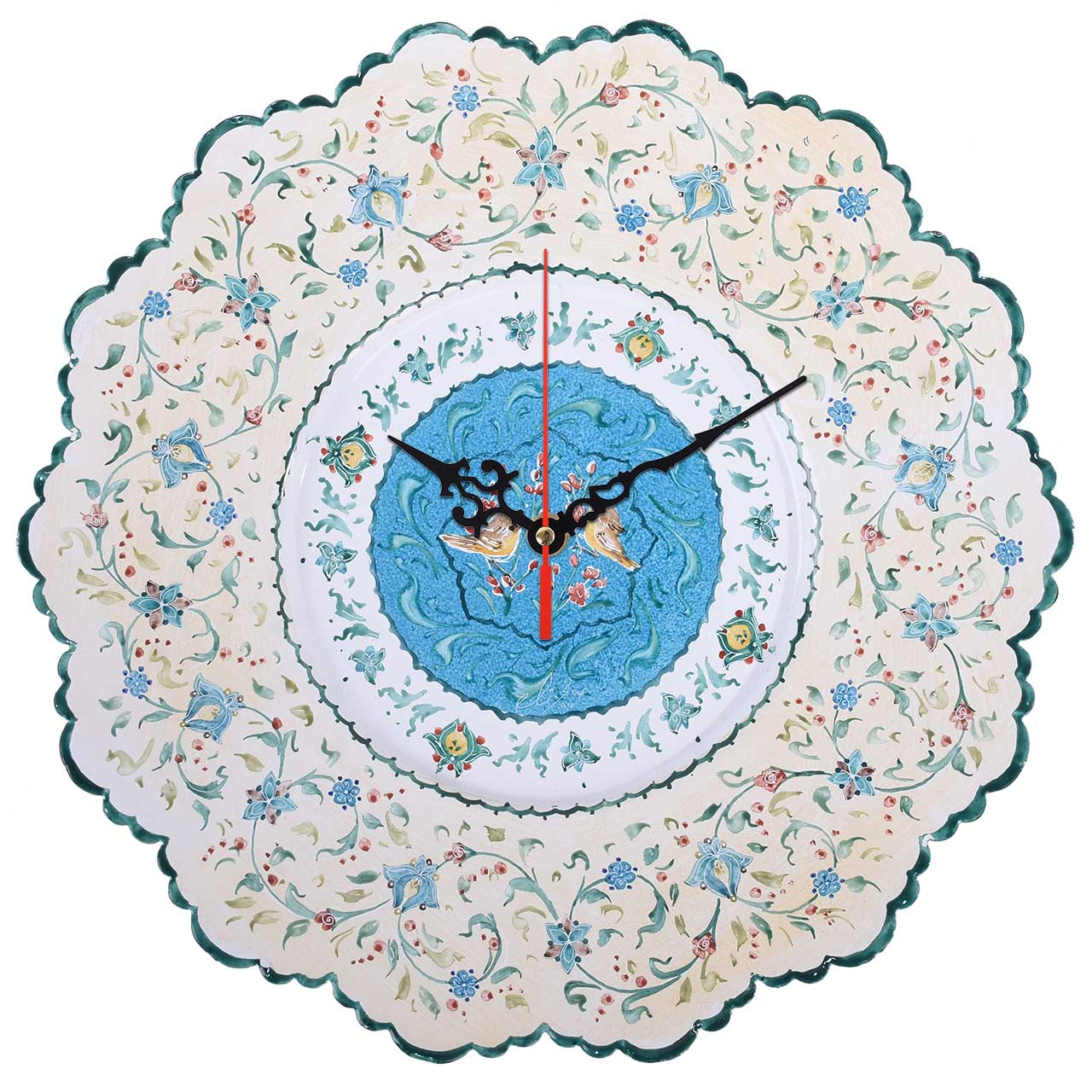 ساعت میناکاری صالحی زاده طرح حوض فیروزه مدل 00-23 سایز 30 سانتیمتر