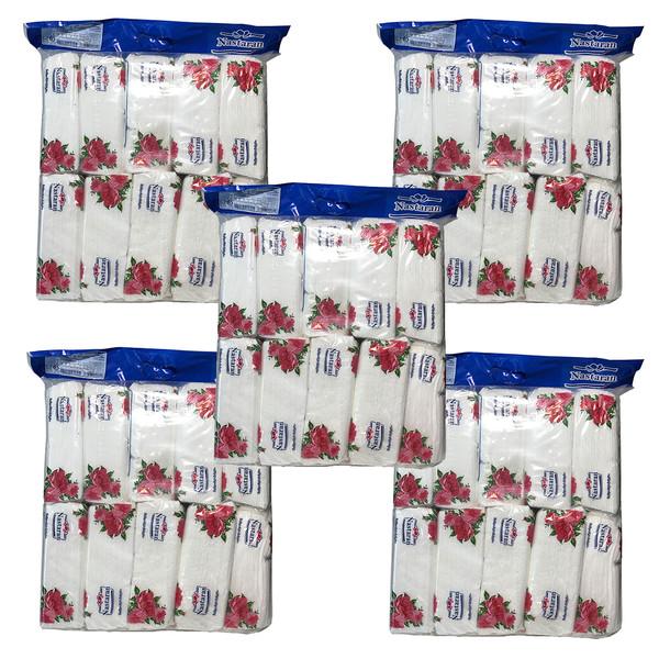 دستمال کاغذی 200 برگ نسترن مدل N5 بسته 5 عددی