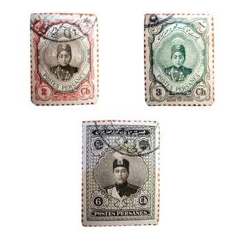 تمبر یادگاری سری قاجار مدل احمدی کد 11d مجموعه 3 عددی