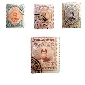 تمبر یادگاری سری قاجار مدل احمدی کد 44f مجموعه 4 عددی