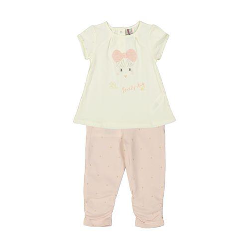 تی شرت و شلوار نخی نوزادی دخترانه - ارکسترا
