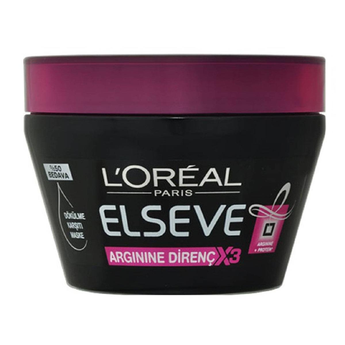 ماسک مو لورآل سری Elseve مدل Arginine Direnc حجم 300 میلی لیتر
