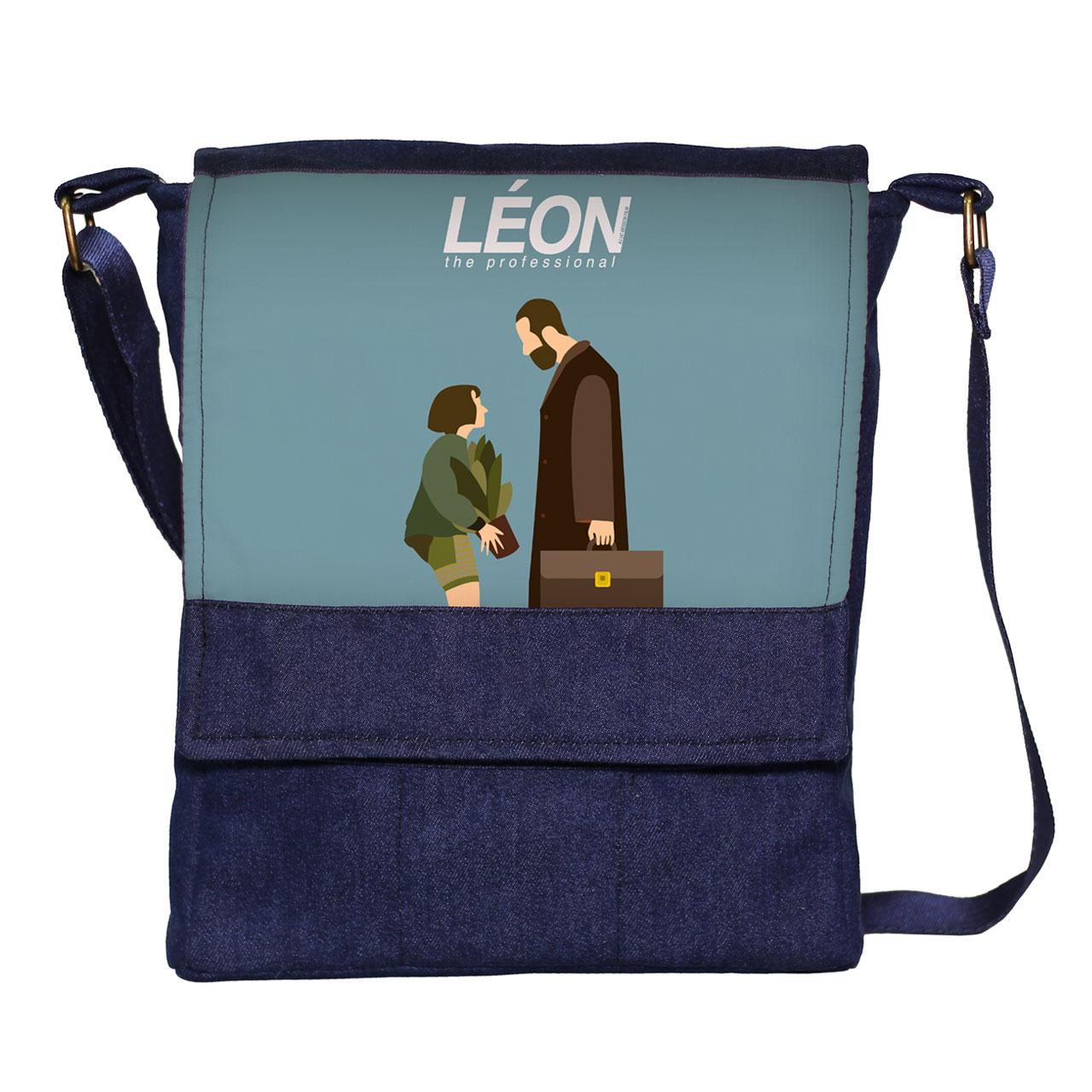کیف دوشی گالری چی چاپ طرح leon کد 1044