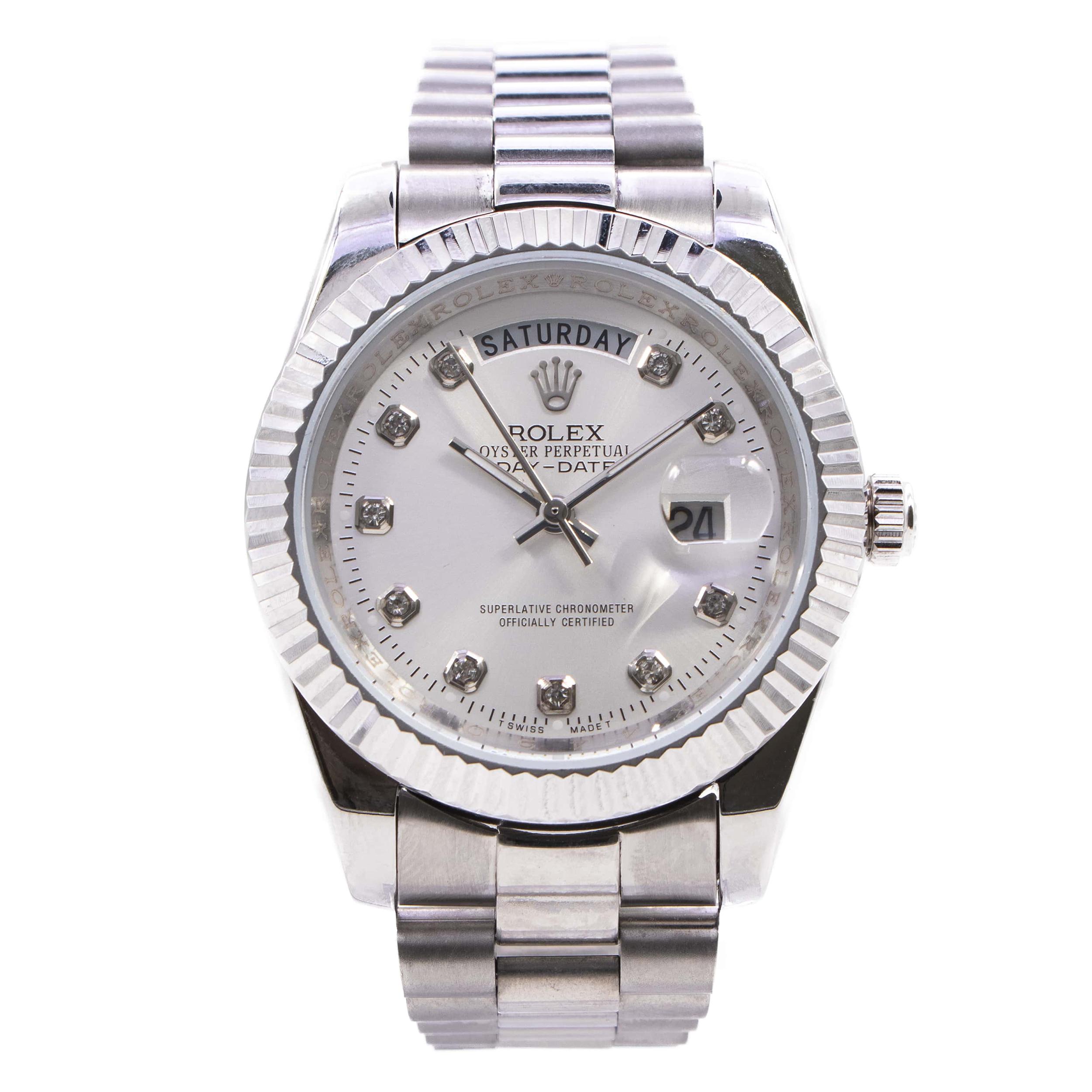 ساعت مچی عقربه ای مردانه مدل ROX DAY-DATE کد 011021