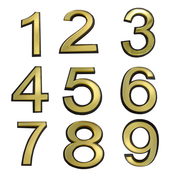تابلو نشانگر طرح شماره واحد مدل snumb مجموعه 9 عددی