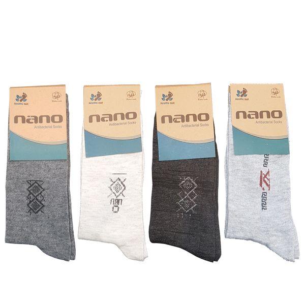 جوراب مردانه نانو مدل AL-S1AL بسته 4 عددی