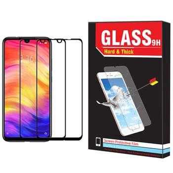 محافظ صفحه نمایش hard and thick مدل F-001 مناسب برای گوشی موبایل  شیائومی Redmi note 7 pro بسته دو عددی