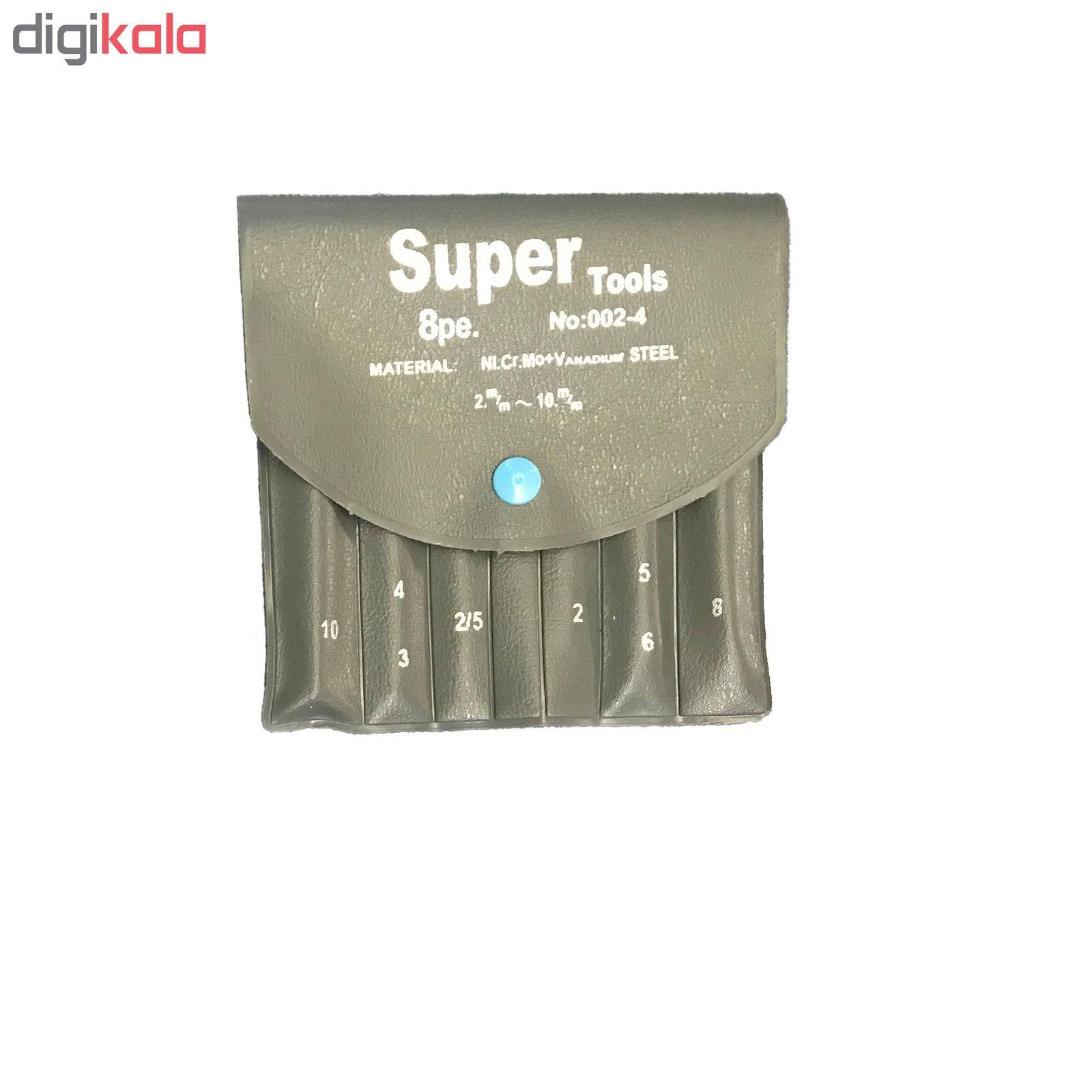 مجموعه 8 عددی آچار آلن سوپرتولز مدل QR-X1 main 1 2